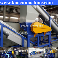 pe pp film PET bottle flakes plastic waste recycling equipment
