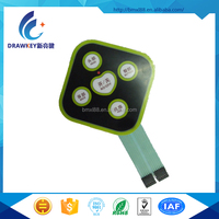 5 Keys Membrane Keypad For Medical Equipment