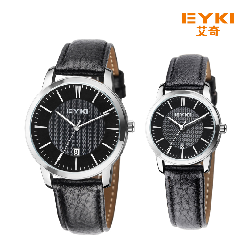Best Selling Products Quartz Waterproof Genuine Leather Strap Fashion Casual Couple Watch EET8608