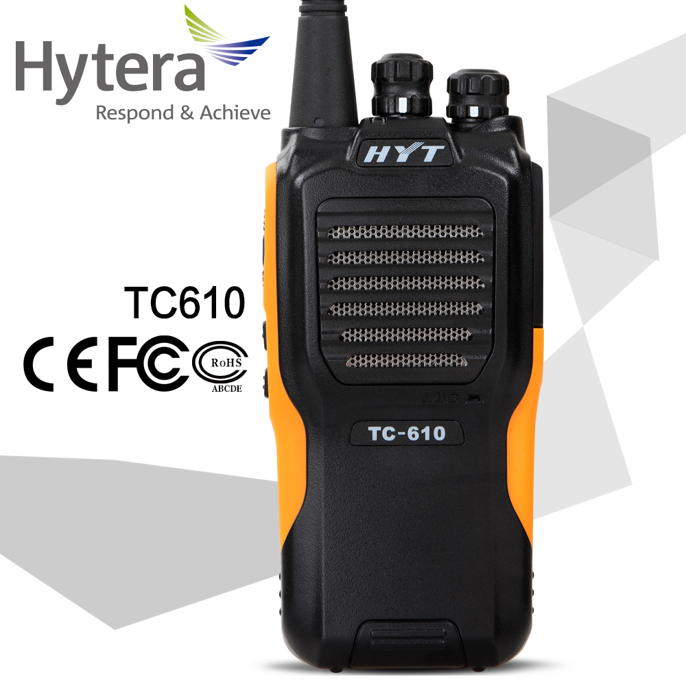 hyt tc610 portable radio with IP67 waterproof HYT TC610 walkie talkie transceiver