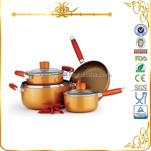 MSF-6203 korkmaz 7pcs aluminum cookware set with ceramic non stick coating
