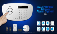 wireless smart gsm alarm system with LCD burglar alarm system panel