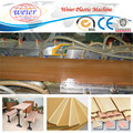 Wood plastic composite production line for WPC door fence panels floor boards