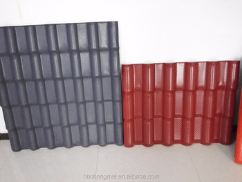 fire-protection non flammable artificial ASA PVC latest building materials