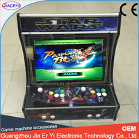 online shopping 22 inch LCD verticle table cabinet with 645 in 1 game bord & SANWA joystick button& 1, 2 player