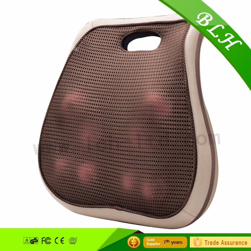 Most Popular Logo Branded Strong Kneading Shiatsu Infrared Heated Back Massage Cushion For Car Seat and Seating Furniture