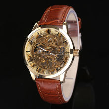 China Made Man Sport Quartz Watch,Transparent Watch Leather Strap Watches Wholesale