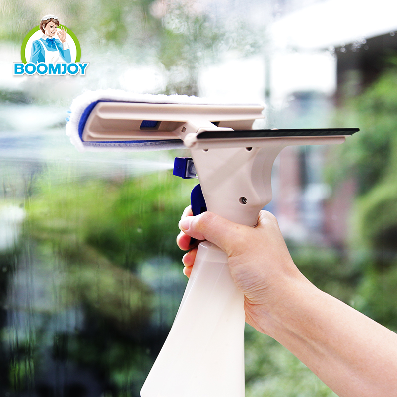 Boomjoy C-4 Microfiber cloth and rubber spray window cleaning magic window cleaner with high quality