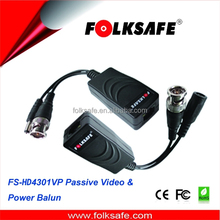 Folksafe 1 channel video power balun and passive rj45 bnc to no converter