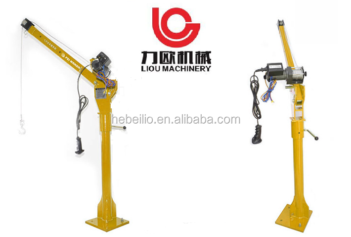 250kg 500KG 1000kg Cheap price small lift mini truck mounted crane