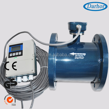 remote type DH1000 electromagnetic 4 inches flow meter