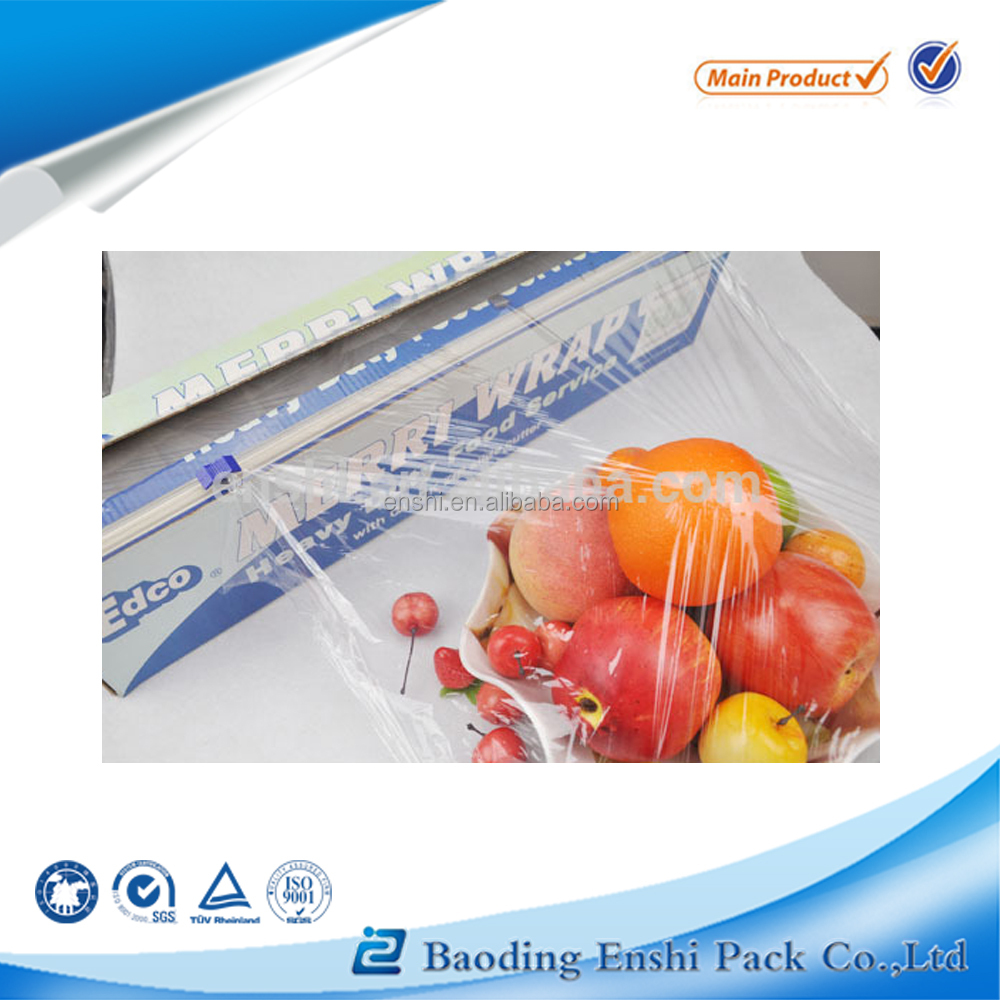 most fresh plastic wrap film vinyl roll for food packing