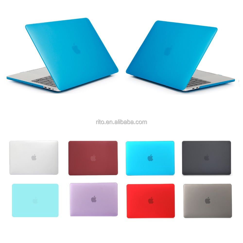 for matte apple macbook pro case, laptop pc cover for new 15 inch mac touch bar