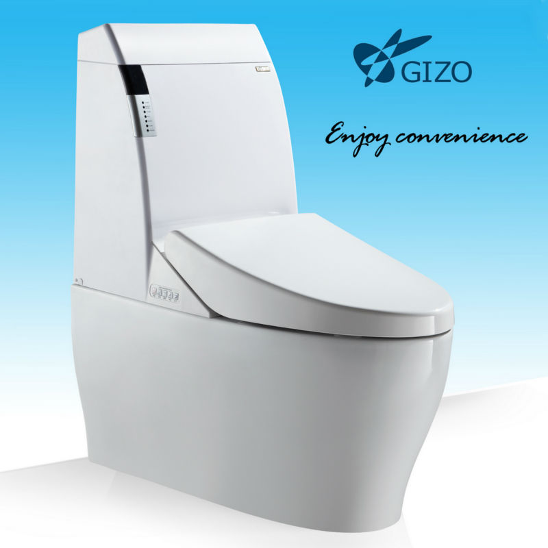 Best WC Toilet Save Water Auto Flush Massage Wash Toilet Bowl No Need Toilet Tissue