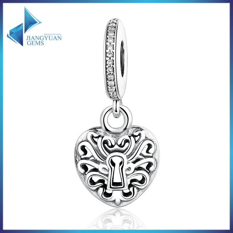 wholesale 925 Sterling Silver heart charm pendant