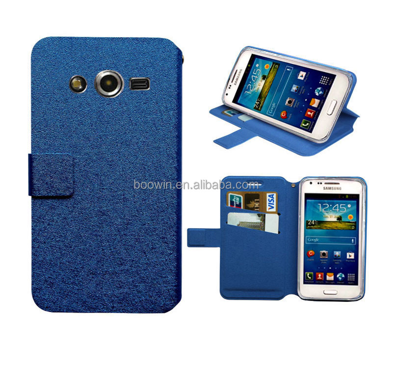 for blue samsung g386f Galaxy Core LTE case blue slik slim wallet stand leather case wiko case high quality factory price