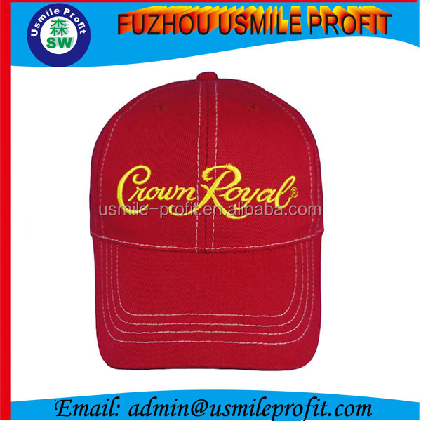 High Quality 100% Twill Cotton Red Caps Bulk