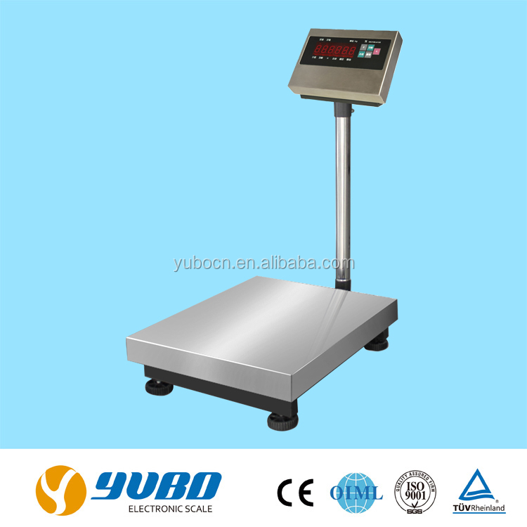 600kg high precision electronic retail and warehouse large weight floor scales