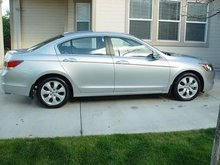 2008 Honda Accord EX-L V6 - Silver w/ Blk Leather