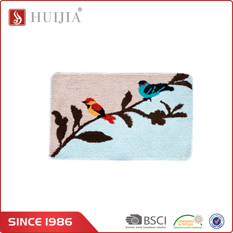 HUIJIA China Factory Wilton Washable Absorbent Decorative Wool home Floor Mats