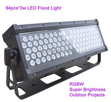 led floodlights 3w*94pcs 280w RGBW super brightness / outdoor projects led wall washer bar light