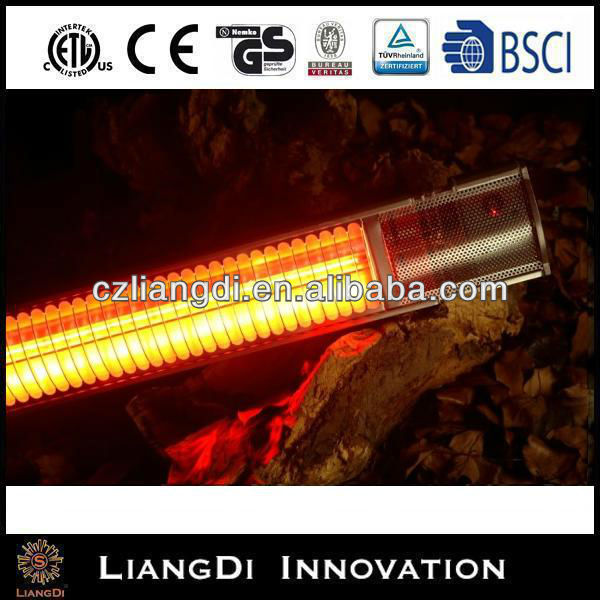 Waterproof Quartz Patio Outdoor Quartz Ceiling Infrared Electric Gas Glass Tube Heater