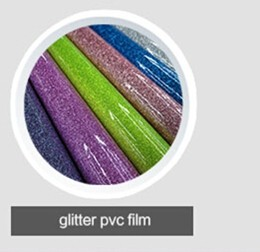 factory supply shiny glitter pvc cosmetic bag material