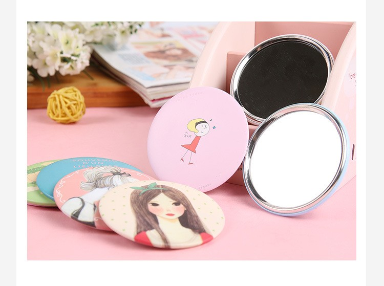 tinplate cosmetic mirror/pocket mirror/Macao mirror