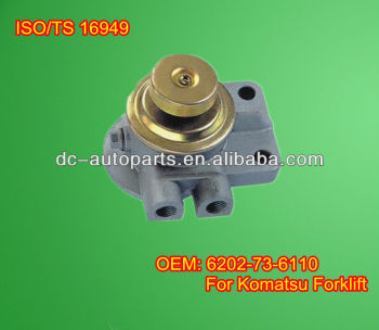FUEL FILTER COVER/PRIMER OEM: 6202-73-6110 FOR Forklift Truck FD25-11 FD30-11 4D95 6D95 Engine