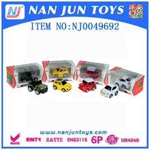 wholesaler die cast car for sale pull back 1:50 die cast car 4 style 4color mixing Pullback Metal Toy Car