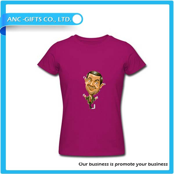 logo printed advertising cheap custom cut and sew t shirts