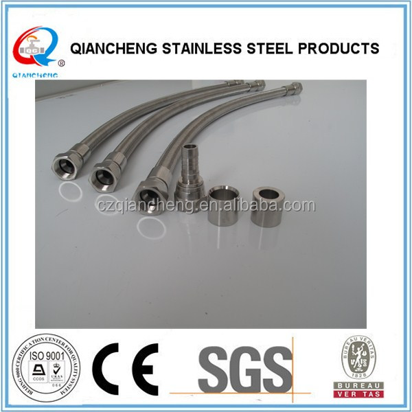 stainless steel wire braided teflon tube with aisi 316 braided/braiding