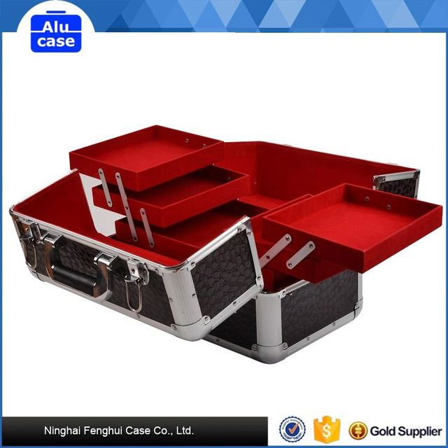 Aluminum Cosmetic cases with trolley