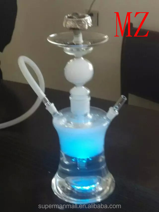 mya glass hookah with led light hand blown hooakh shisha wholesale 2016