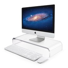 Premium Acrylic Monitor Stand Monitor Riser Computer Stand for iMac Laptop Printer TV Monitor