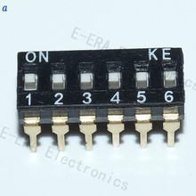 DIP switches toggle switch 2.54mm 12p 6-way