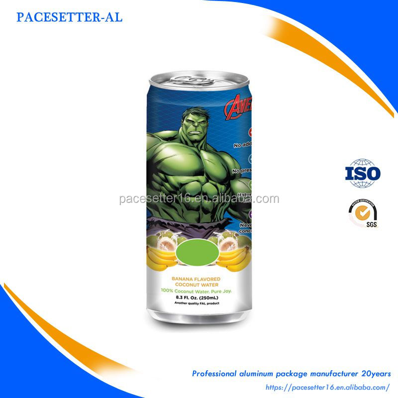 high temperature filling aluminum 250ml slim can
