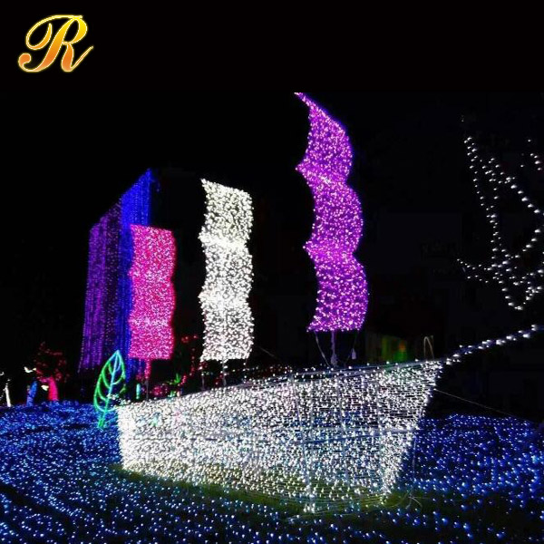Commercial outdoor decorative lighting LED high-heel shoe