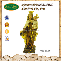 Church decoration polyresin statues saint marie