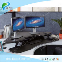 JEO JN-LD02T T Shaped desktop board for two computer monitors height adjustable computer desk