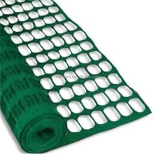 Green plastic safety mesh fence