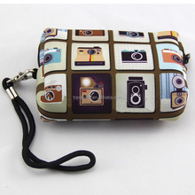Kids colorful printing neoprene coin purse with lanyard (factory)