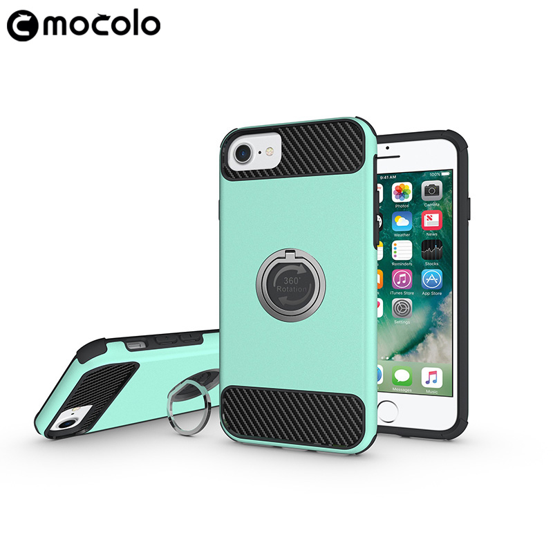 OEM ODM Factory Supply Mobile Phone Case With Ring Holder For iphone 6 6s 7 7plus Shockproof back cover