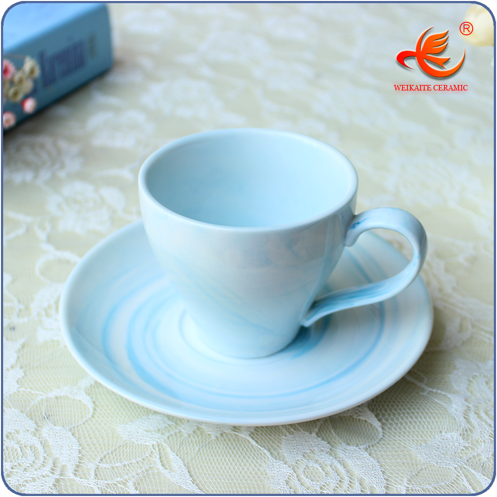 WKT023MB pantone color fine bone china coffee cup and saucer