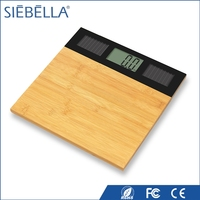 Unique hot selling solar body weighing bamboo list scale industries bathroom scale