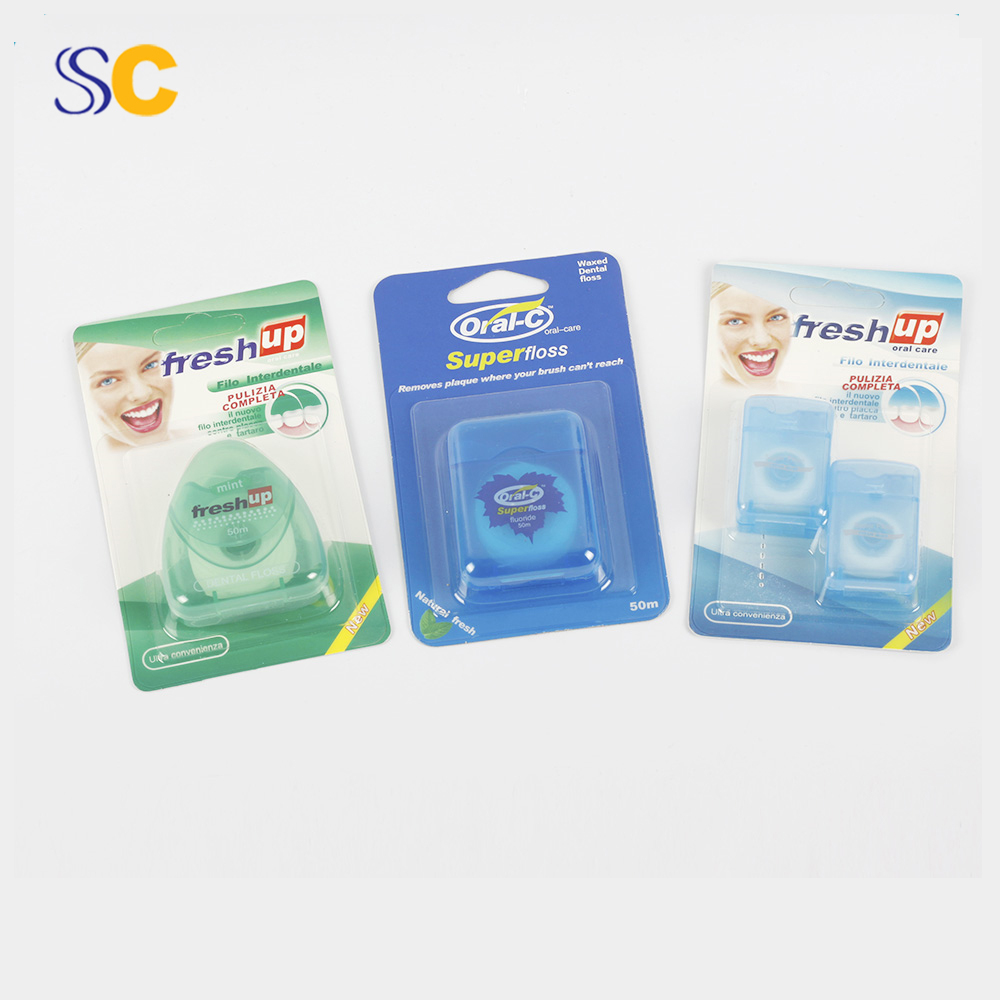 Portable oral cleaning silk abrasive dental floss in box