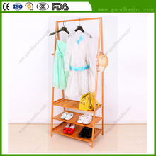 Large Capacity Bamboo Used Ceiling Mounted Clothes Drying Rack