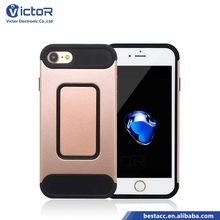 Factory carbon fiber stripe TPU + hard PC cell phone case for iPhone 7