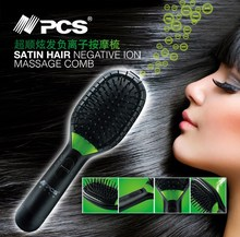 Professional Detachable Ionic Vibrating Massage Travel Vibrate Electric Battery Hair Brush