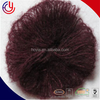 factory wholesale cone dyed knitting machine brush wool yarn,wool brush yarn,Australia wool brush yarn
